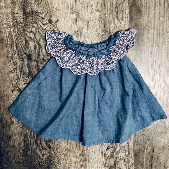 The Children's Place Other - The Children's Place Denim Lined Dress SZ 0-3 MTHS